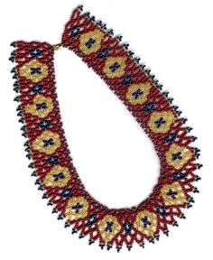 Netted Diamonds in 8/ seed beads  by Maria Rypan. for STEP BY STEP beads. Jan./Feb. 2006: 26-30.