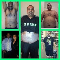 it works wraps men's results -  CHECK OUT MY SITE ..YES MEN CAN USE IT TOO WWW.BEAUTII-BODY.info.