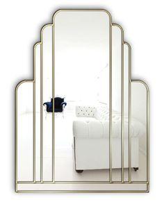 The Manhattan art deco wall mirror