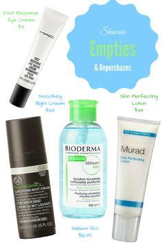 Skincare empties including Murad, The Body Shop, Bioderma & more!  http://www.briannamacias.com/blog/skincare-empties-repurchases