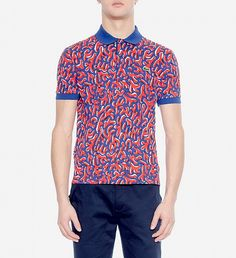 NEW Coral Printed Polo by Lacoste | $125 | Forget basic and add a seafaring vibe to summer style with Lacoste LIVE's reef print polo. The bold colour scheme, contrast collar and cuffs and trademark alligator logo grab attention – for all the right reasons. This one looks good with dark navy chinos and white kicks. | GOTSTYLE.CA