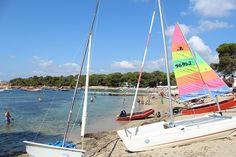 la playa de cala pada en Ibiza