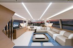 Internal view Pershing Yacht - Pershing 92 #yacht #luxury #ferretti #pershing