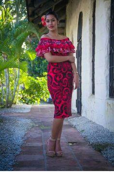 Island Wear, Island Outfit, Tropical Fashion, Tropical Dress, Tahiti, Samoan Dress, Island Style Clothing, Different Dresses, Island Girl
