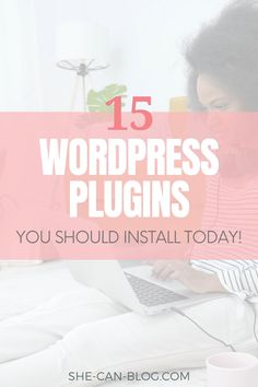 Finding the right plugins for your WordPress website can be very daunting. Did you know that there are over 50,000 plugins to choose from!? That's why I made your search for the best and most essential plugins for your WordPress blog easier by listing the 15 best plugins for your online business. #wordpresstips #bloggingforbeginners Wordpress Plugins, Blogging For Beginners, How To Start A Blog, Did You Know, Knowing You, Online Business, Advice, Good Things, Tips