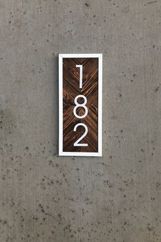 Diy House Number Sign Vertical Ideas For 2019