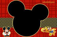Casinha de Criança: Kit Mickey Preto Vermelho e Amarelo Para Imprimir Grátis
