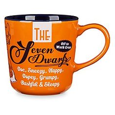 Seven Dwarfs Color Contrast Mug   Disney Store When you're Sleepy, there's nothing like a nice refreshing cup of coffee to make you Happy. You'll be ready to face the world after drinking from this cup featuring the mugs of the Seven Dwarfs on the outside and a contrasting interior.