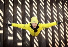 Australian aerial skier Lydia Lassila poses during previews at Alpenisa Ski Resort on February 7, 2018.