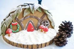 How to: A gingerbread gnome home. Wow, this is gorgeous!