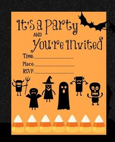 Free printable for your Halloween Party Invites!