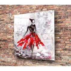 Koen üvegezett kép, 40 x 40 cm - Insigne Marceline, Glass Art, Prints, Painting, Image, Decor, Door Knobs, Products, Decoration