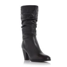 DUNE LADIES ROSSY - Slouch Pull On Calf Boot - black  | Dune Shoes Online