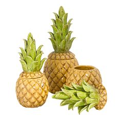 Ceramic Pineapple Canisters - DWBH Homewares - Stand: LL29