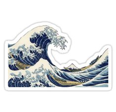Beautiful design based off of the Great Wave off Kanagawa offered in phone cases for both Samsung and iPhone, stickers, and notesbooks. Great for notetaking, doodling, or sketching. • Also buy this artwork on stickers and stationery.