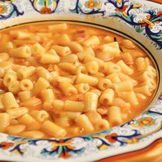 Pasta e fagioli, or pasta and beans, which goes by the amusing nickname 'pasta fazool' in Italian-American slang. Very Good, save pasta water to thin out. Italian Soup, Italian Pasta, Italian Recipes, Italian Foods, Italian Cooking, Italian Dishes, Soup Recipes, Cooking Recipes, Pasta Recipes