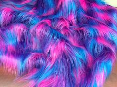 Faux Fake Fur 3 Tone Rainbow Long Pile Fabric Width Sold By Yard Turquoise Fake Fur Fabric, Iphone Wallpaper Glitter, Animal Fur, Fur Clothing, Rainbow Decorations, Sequin Fabric, Fabric Design, Faux Fur, Fashion Accessories