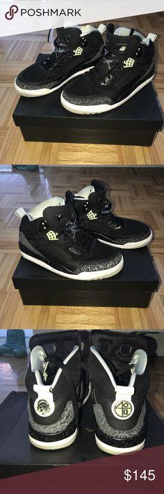 Jordan Spizike - Size 7.5 Black/Cool Grey - Grey Mist - White. Worn once, like new! Jordan Shoes Athletic Shoes