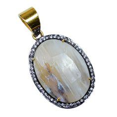 Silvestoo India Wonder Sapphire & Cubic Zircon Gemstone 925 Sterling Silver Vermeil Pendant PG-100708   https://www.amazon.co.uk/dp/B06XXJWCTP