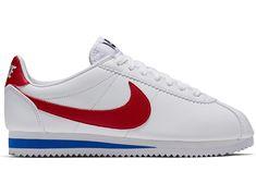 69e8ea4f87f6b3 Nike Classic Cortez Leather W Schuhe weiß rot blau im WeAre Shop