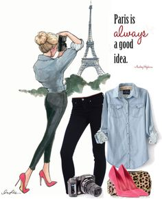 """Paris is always a good idea"" by nora-nazeer ❤ liked on Polyvore"