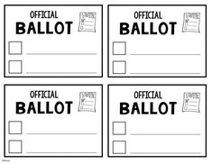 Pin di Voting Ballot Template For Word