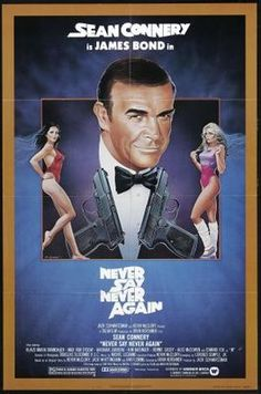Never Say Never Again (1983) movie #poster, #tshirt, #mousepad, #movieposters2