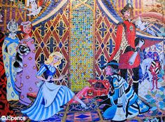 Mosaic at Cinderella Castle, Disney