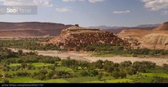 Fortified town of Ait ben Haddou - stock photo
