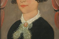 Antique Portrait from the Prior-Hamblen School of Artists.