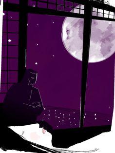 夏目漱石「夢十夜」第一夜 イラスト:米澤章憲