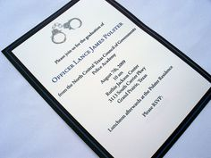 Thin Blue Line - Police Academy Graduation Announcement or Invitation - product images