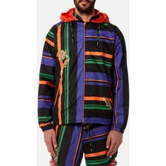 adidas by kolor Men's AOP Jacket - Multi (9.235 RUB) ❤ liked on Polyvore featuring men's fashion, men's clothing, men's outerwear, men's jackets, multi and mens jackets