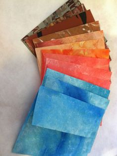 handmade envelopes made from painted tyvek paper... fun!