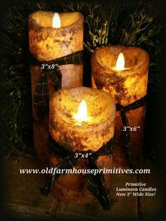 """Primitive Luminara Candle """"New Size"""""""