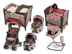 GIRL FOLD AND GO CRIB | ... Station Deluxe, Comfy Cove Swing, and Fast Action Fold Travel System
