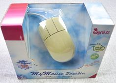Vintage 90s Genius Brand Sapphire Computer Mouse Wired Track Ball NEW in Package #Genius
