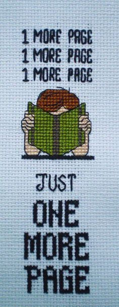Cross stitch bookmark- pretty sure @Savannah Jostock needs this in her life.