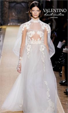 can't get over this .. would never wear sheer BUT it's so pretty for the runway!