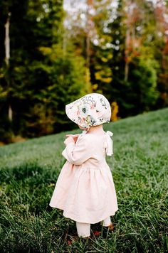 Handmade Floral Baby Bonnet | willowandhazel on Etsy