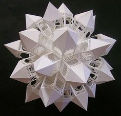gazeboball 3 - paper sculpture by Ben Chickadel