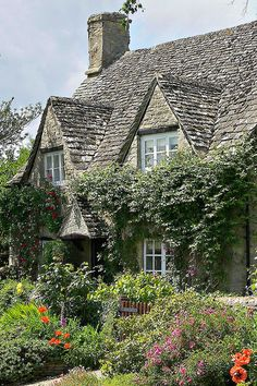 English Cottage-style home.