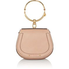 Chloé Women's Nile Small Leather & Suede Crossbody Bag (€1.375) ❤ liked on Polyvore featuring bags, handbags, shoulder bags, leather shoulder handbags, red leather crossbody, shoulder strap handbags, leather handbags and red crossbody