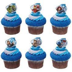 Marvel Avengers Superhero Cupcake Rings - 12 ct