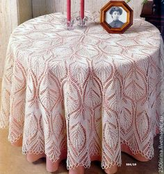 """Photo from album """"Спицы. Lace Knitting Patterns, Knitting Stitches, Knitting Designs, Peacock Crochet, Knit Or Crochet, Knit Lace, Crochet Tablecloth, Crochet Doilies, Lace Tablecloths"""