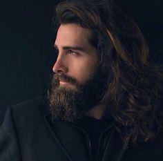 Hairy Guys & co. Barba Sexy, Hair And Beard Styles, Long Hair Styles, Long Hair Beard, Beard Head, Style Masculin, Sexy Beard, Long Beards, Beard Lover