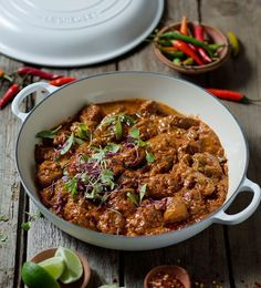 Fiery Lamb Curry - Le Creuset Recipes by Read Lamb Recipes, Spicy Recipes, Curry Recipes, Meat Recipes, Indian Food Recipes, Asian Recipes, Cooking Recipes, Recipies, Lamb Dishes