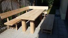 Gartenmoebel aus Eiche3 Picnic Table, Furniture, Home Decor, Patio, Homemade Home Decor, Home Furnishings, Interior Design, Home Interiors, Decoration Home