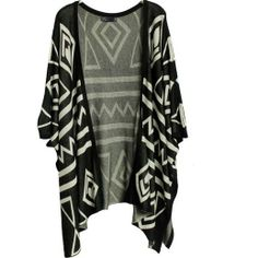 2013 New Fashion Open Front Wool Sweater Vintage Gothic Geometric Figure Kaross Cape Short Cardigan Women's One Size In Stock $29.98