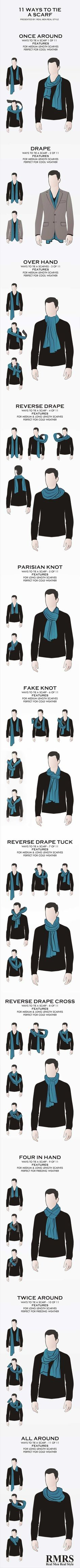 ways to tie a scarf, super stylish ways to tie a scarf